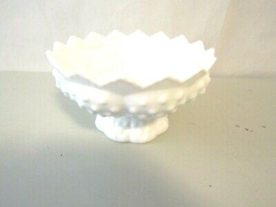Fenton Flower Vase White Milk Glass Hobnail Footed x 5-34 Tall 6-12 Wide