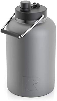 RTIC Jug 1 Gallon Graphite Matte Vacuum Insulated Large Water Bottle Handle