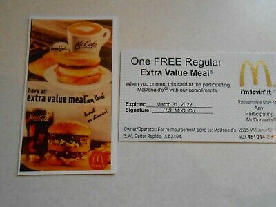 Lot of 15 Mcdonalds Combo Meal Cards