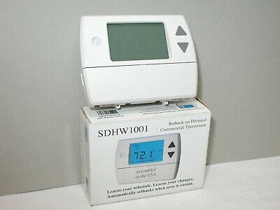 Columbus Elec SDHW1001 Self Learning Setback on Demand Thermostat WB