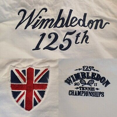 RARE 2011 Polo Ralph Lauren Wimbledon 125th Anniversary Embroidered Rugby