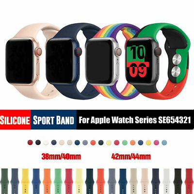Silicone Band Strap for Apple Watch Sports Series 7 6 SE 5 4 3 2 1 38404244mm