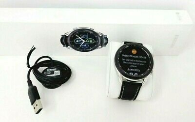 Samsung Galaxy Watch3 SM-R840 45mm Mystic Silver Stainless Steel  Black Leather