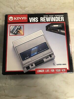 Kinyo UV-512 VHS Rewinder w Fast Forward Soft Eject With Box and Instructions