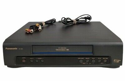 Panasonic PV-7401 VCR VHS 4 Head Omnivision w Video Cables - Tested Working