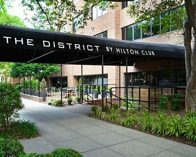 HILTON GRAND VACATIONS CLUB THE DISTRICT ANNUAL YEAR 14400 POINTS TIMESHARE