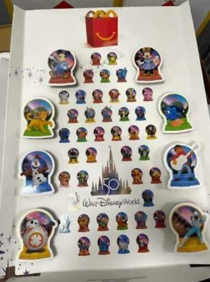 2021 McDONALDS Dis-neys 50th Anniversary Dis-ney World HAPPY MEAL TOYS Or Set