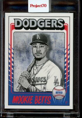 2021 Topps Project 70 Card 453 Mookie Betts 1975 by Mister Cartoon