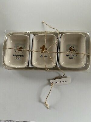 Rae Dunn Small Dishes and Tray- Gingerbread House Oh Snap Home Sweet Home  NEW