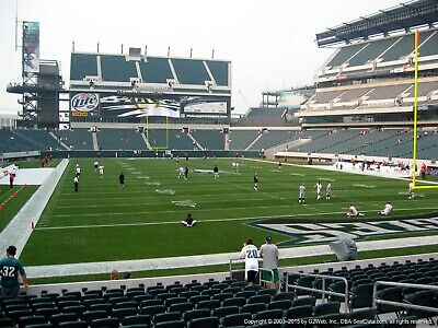 2 philadelphia eagles vs los angeles chargers  tickets Lower level 109