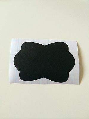 12 - Chalkboard Vinyl Tags-   3 18 wide x 1 58 to 2 height