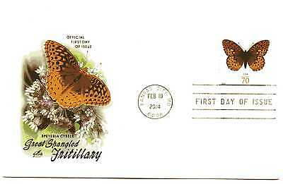 4859 70c Great Spangled Fritillary Butterfly ArtCraft FDC