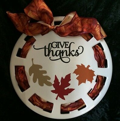 Fall Vinyl  Stickers • Give Thanks And Leaves• Decoration • Can Customize