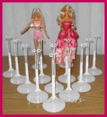 12 White Kaiser 2201 BARBIE Doll Stands fits MONSTER HIGH too