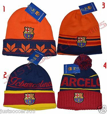 FC BARCELONA BEANIE OFFICIAL WINTER SKULL CAP AUTHENTIC