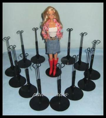 12 Black Kaiser BARBIE Doll Stands fit Monster High Fashion Royalty