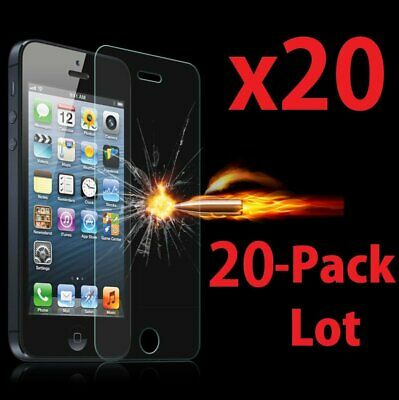 20x Wholesale Lot Tempered Glass Screen Protector for Apple iPhone 55C5S