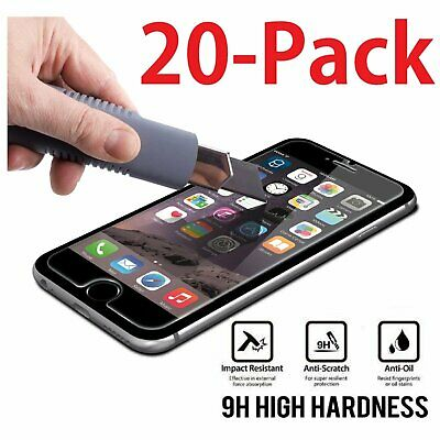 20x Wholesale Lot Tempered Glass Screen Protector for Apple 5-5 iPhone 6 Plus