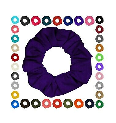 Cotton T-Shirt Jersey Hair Scrunchies Many Colors 3 Sizes Mini Standard Jumbo