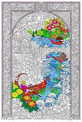 Enchanted Lake - Giant Coloring Poster 32½ x 22 Inches