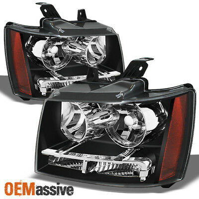 2007-2014 Suburban Tahoe Headlights Lights Lamps Avalanche 2008 2009 2010 2011