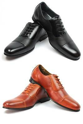 New Mens Ferro Aldo Dress Shoes Cap Toe Lace Up Oxfords Leather Lining 19339