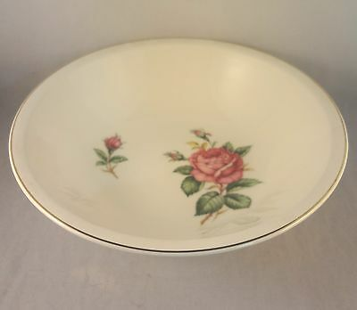 RED ROSE by PADEN CITY ROUND VEGETABLE SERVING BOWL Rose - Buds on Cream