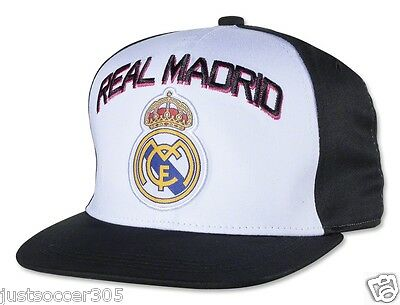 Real Madrid Snapback Adjustable Cap Hat white black