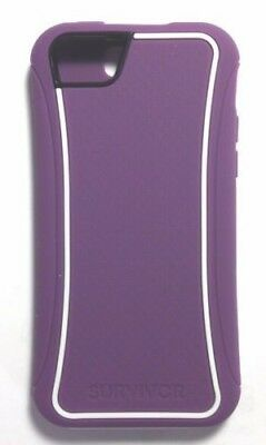 Griffin Survivor Slim Series Case Cover For Apple iPhone 5C - PurpleWhite