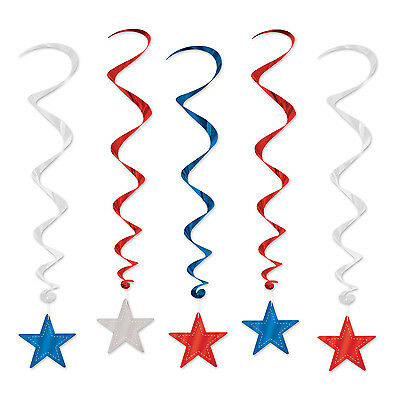 4th Of July Election Party Decoration Hanging PATRIOTIC STAR WHIRLS Swirls