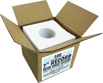 500 7 Record Inner Sleeves - White ARCHIVAL Paper ACID FREE 45rpm - 07IW