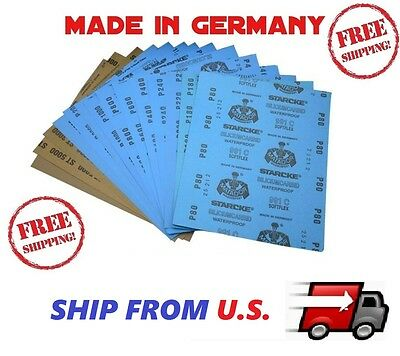 SANDING SHEETS WetDry Silicon Carbide Waterproof Sandpaper Grits 9x11 5-5x9 USA
