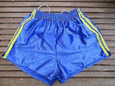 f345953dbeb8c VINTAGE Short NYLON bleu polyamide shiny brillant made France 95 années 80  sport