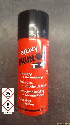 Brunox Epoxy Spray 400ml Rostumwandler Rostsanierer Epoxy Grundierung Rostschutz
