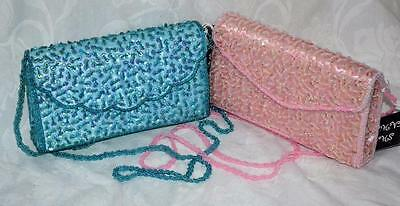 STUNNING SEQUIN BEAD PEARL SCALLOP PARTY BRIDESMAID PROM CLUTCH SHOULDER BAG BN