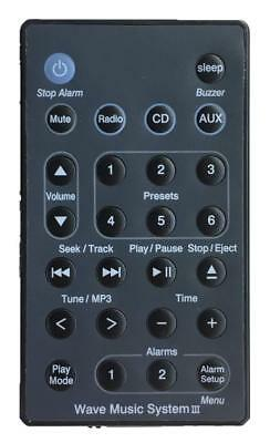 New USBRMT Remote Black For Bose Wave RadioCD Music System III AWRCC2 AWRCC3