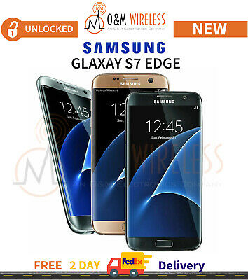 NEW Samsung Galaxy S7 EDGE Black Gold Silver Blue Pink (SM-G935A, GSM Unlocked)