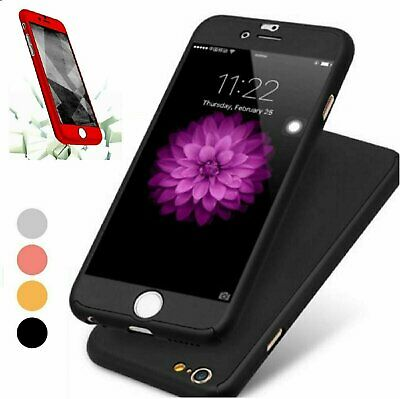 360° Full Hybrid Tempered Glass - Acrylic Hard Case Cover For iPhone 6 - 6S Plus