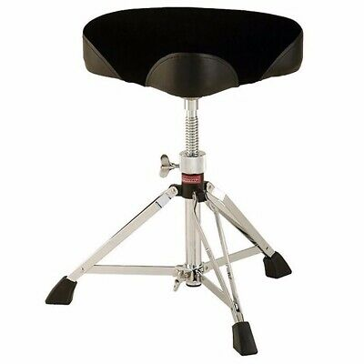 New Ludwig L349TH Accent Saddle Shaped Drum Throne Stool w Fabric Top