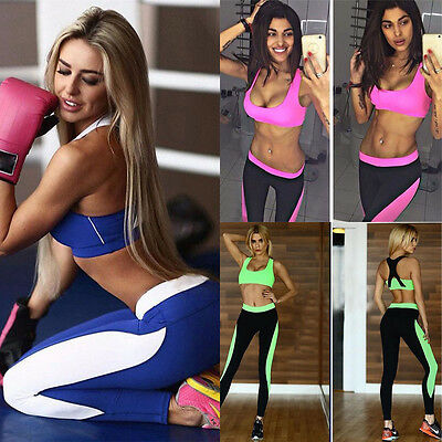 XS - L Sportanzug Damen Fitness Bras Compression Pants Hose Leggings Yoga Gym M