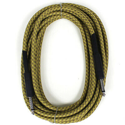 NEW PERFEKTION 20 FT VINTAGE BRAIDED TWEED GUITAR BASS - INSTRUMENT CABLE CORD