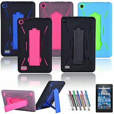 For 20152017 Amazon Fire 7 7-0 Tablet Hybrid Heavy Duty Kick stand Case Cover