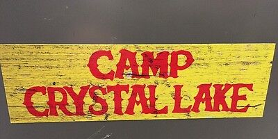 Camp Crystal Lake Bumper Sticker Jason Voorhees Friday the 13th Sign 9 Decal