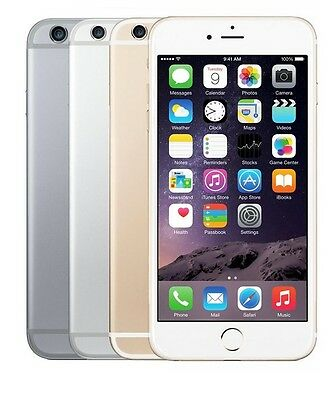 Apple iPhone 6-16GB 64GB 128GB AT-T Smartphone Gold Gray Silver Cell Phone