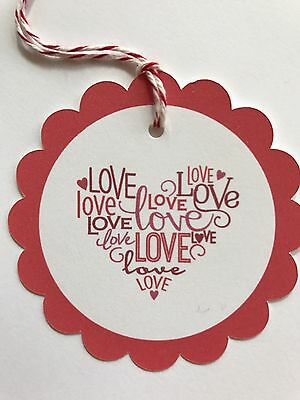 Valentines Tag • Favor Tags • LOVE Tags • Gift Tags • Red Twine