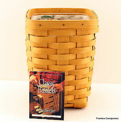 Longaberger Basket with liner and protector 8 1/2