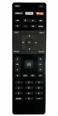 New USBRMT Replaced Vizio XRT122 Smart TV Remote with AmazonNetflixiHeart Key