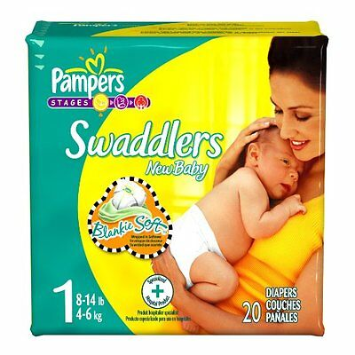 NEW Pampers Swaddlers Diapers Size 1 240 Count