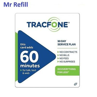 TracFone 19-99 Refill - 60 Minutes90 Days fast - right