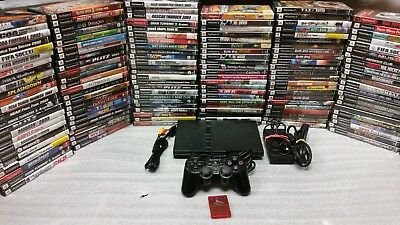 Sony PlayStation 2 PS2 Slim Edition Silver Console System with games